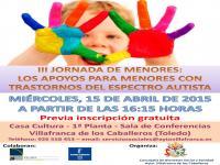 III JORNADA DE MENORES: LOS APOYOS PARA MENORES CON TRASTORNOS DEL ESPECTRO AUTISTA